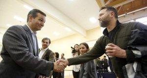 Cruz shakes hands